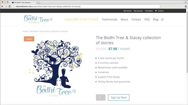 The Bodhi Tree & Stacey Product Page, Designed by Tech-Web Canada